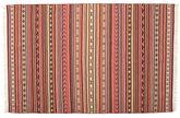 Tappeto Kilim Dorri Varanasi con fringes CVD15150