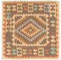 Kilim Afghan Old style carpet NAZB186