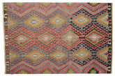 Kilim semi antique Turkish carpet XCGZK610