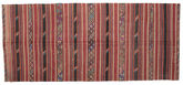 Kilim semi antique Turkish carpet XCGZK564