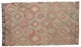 Kilim semi antique Turkish carpet XCGZK562