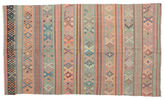 Kilim semi antique Turkish carpet XCGZK546