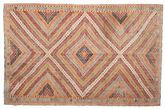 Kilim semi antique Turkish carpet XCGZK96