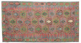 Kilim semi antique Turkish carpet XCGZK86