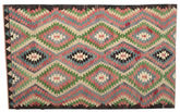 Kilim semi antique Turkish carpet XCGZK80