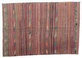 Kilim semi antique Turkish carpet XCGZK72
