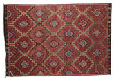 Kilim semi antique Turkish carpet XCGZK69