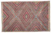 Kilim semi antique Turkish carpet XCGZK67