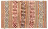 Kilim semi antique Turkish carpet XCGZK66