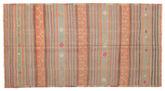 Kilim semi antique Turkish carpet XCGZK65