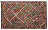 Kilim semi antique Turkish carpet XCGZK56