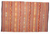 Kilim semi antique Turkish carpet XCGZK5