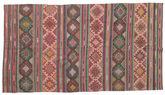 Kilim semi antique Turkish carpet XCGZK217