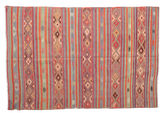 Kilim semi antique Turkish carpet XCGZK210