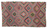 Kilim semi antique Turkish carpet XCGZK207