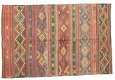 Kilim semi antique Turkish carpet XCGZK158