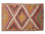 Kilim semi antique Turkish carpet XCGZK125