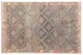 Kilim semi antique Turkish carpet XCGZK119