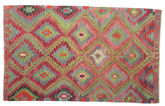 Kilim semi antique Turkish carpet XCGZK978