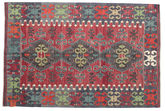 Kilim semi antique Turkish carpet XCGZK977