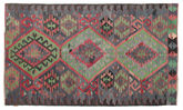 Kilim semi antique Turkish carpet XCGZK974