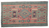 Kilim semi antique Turkish carpet XCGZK955