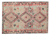 Kilim semi antique Turkish carpet XCGZK949
