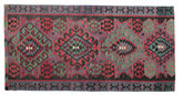 Kilim semi antique Turkish carpet XCGZK937