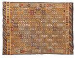 Kilim semi antique Turkish carpet XCGZK935
