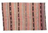 Kilim semi antique Turkish carpet XCGZK928