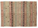 Kilim semi antique Turkish carpet XCGZK912