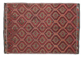 Kilim semi antique Turkish carpet XCGZK911