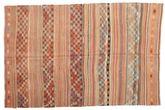 Kilim semi antique Turkish carpet XCGZK884