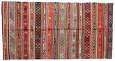 Kilim semi antique Turkish carpet XCGZK878