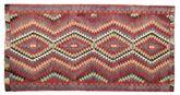 Kilim semi antique Turkish carpet XCGZK871