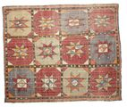 Kilim semi antique Turkish carpet XCGZK839