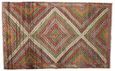 Kilim semi antique Turkish carpet XCGZK795