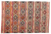 Kilim semi antique Turkish carpet XCGZK473