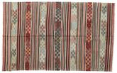 Kilim semi antique Turkish rug XCGZK468