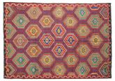 Kilim semi antique Turkish carpet XCGZK377