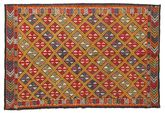 Kilim semi antique Turkish carpet XCGZK373