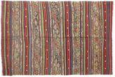 Kilim semi antique Turkish carpet XCGZK764