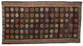 Kilim semi antique Turkish carpet XCGZK686