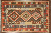 Kilim Afghan Old style carpet AXVQ802