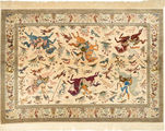 Qum silk carpet AXVZC538