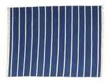Dhurrie Stripe - Dark Blue