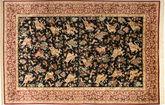 Qum silk Signet: Lajevardi carpet AXVZC493