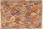 Kilim Afghan Old style carpet AXVZX5512