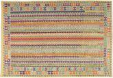 Kilim Afghan Old style carpet AXVZX5516
