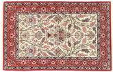 Tappeto Isfahan ordito in seta TBZZZI162